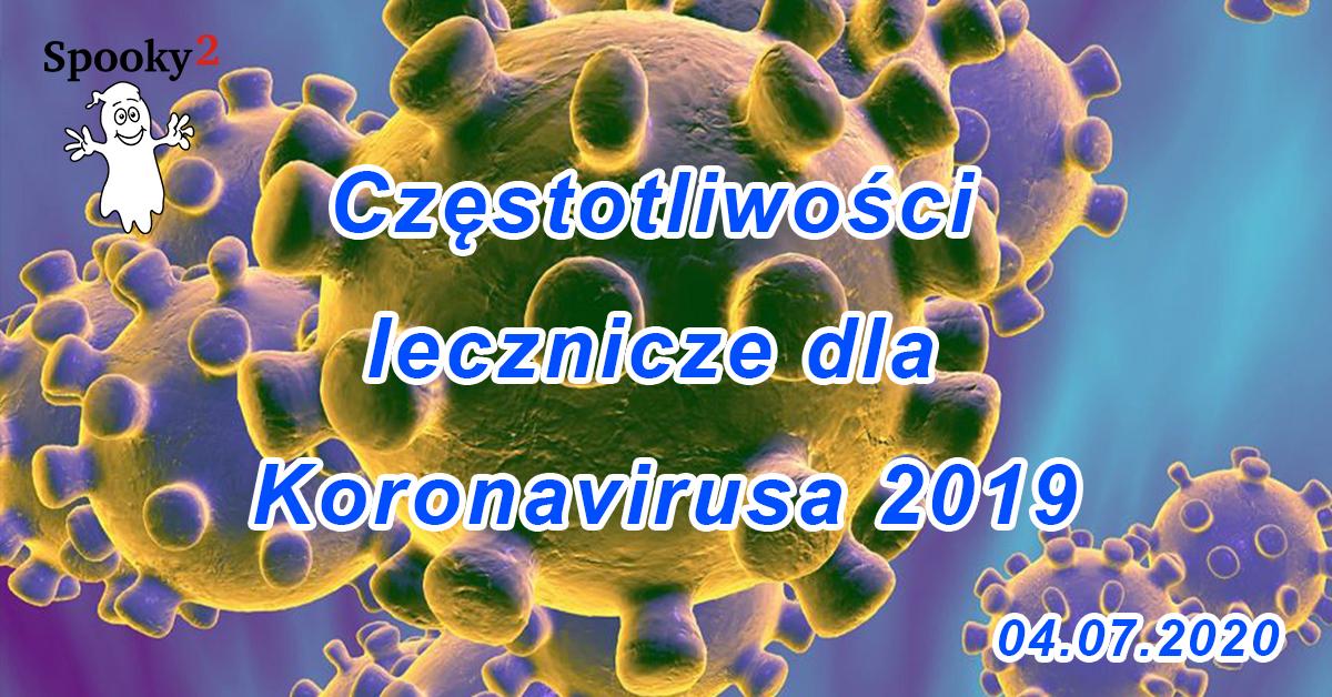 [AKTUALIZACJA] Częstotliwości lecznicze dla Koronavirusa 2019 - 2020.04.07